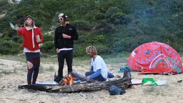 """Goons of Doom in Taylor Steele's """"Here & Now"""" project by INNERSECTION. The Goons of Doom go camping."""