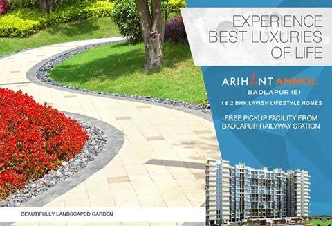 Arihant Anmol - Badlapur East 1 & 2 BHK Lavish Lifestyle Homes Beautifully Landscaped Garden http://www.asl.net.in/arihant-anmol.html #ArihantAnmol #RealEstate #Property #Badlapur #Mumbai