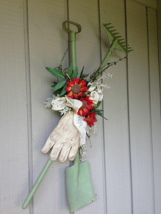Wand Deko Gartenhaus: originelle Idee frische Blumen ...
