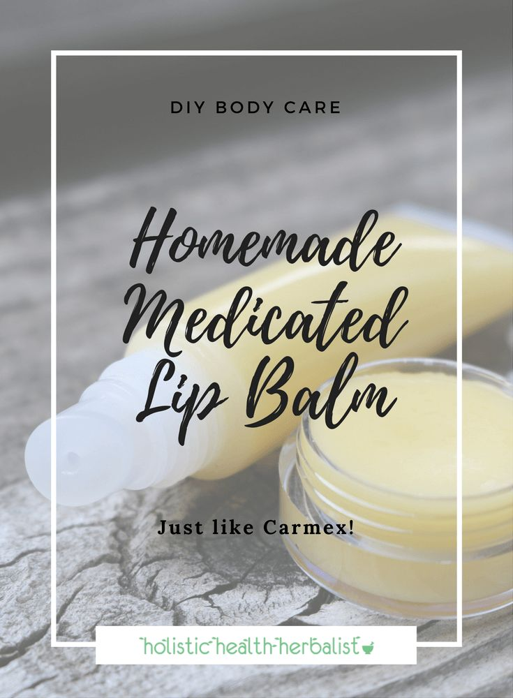 Homemade Medicated Lip Balm - Learn how to make this Carmex copycat recipe to help soothe, protect, and heal your lips during dry weather conditions.