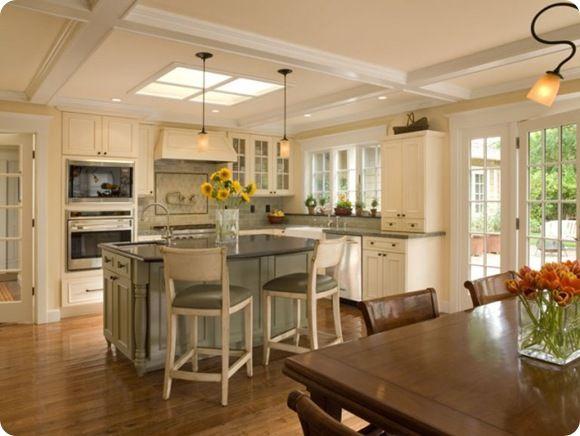 KitchensKitchens Design, Dreams Kitchens, Traditional Kitchens, Sky Lights, Kitchens Layout, Kitchen Layouts, San Francisco, Wall Ovens, White Kitchens
