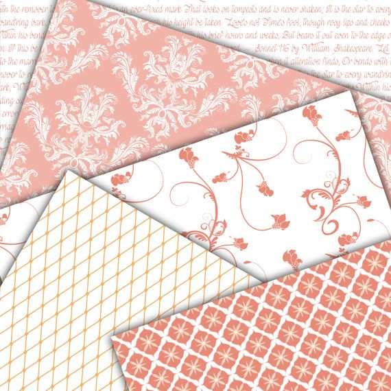 Pink Damask Digital Paper Pink Romance by FoxyDigitalPaper