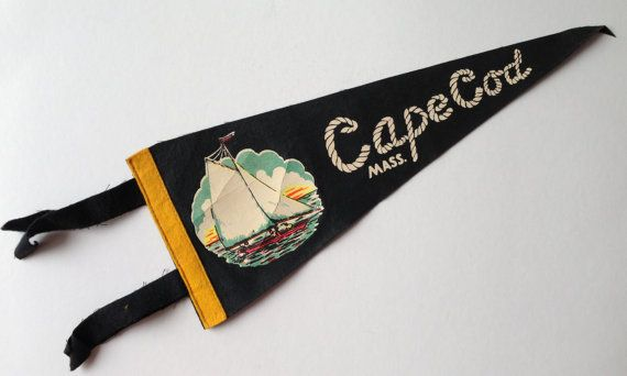 Vintage Cape Code Pennant  Nautical Flag  by TheGOOSEandTheHOUND, $15.00