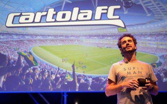 Felipe Andreoli fala sobre o Cartola FC na Campus Party de 2016 (Foto: Globo / Bob Paulino)