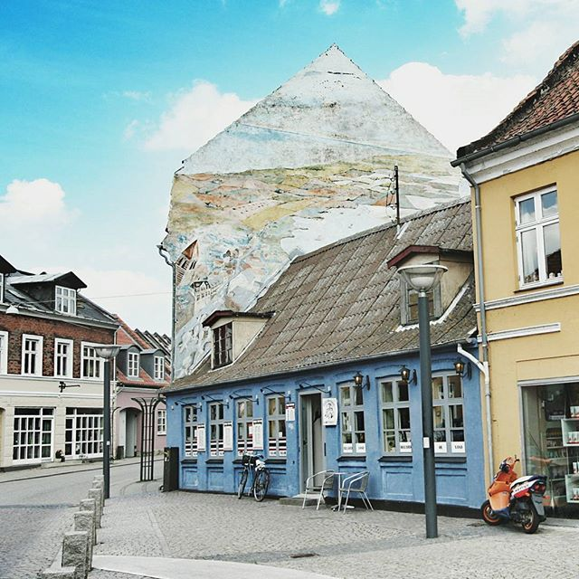 EXPLORE | This small, colourful village in Denmark is called Stege. It's near the famous Møns Klint beach.