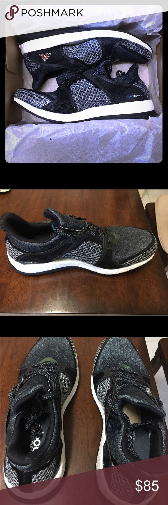 BRAND NEW Adidas Pure Boost X TR trainers! 💪 Super comfortable and stylish tennis shoes, perfect for the gym or everyday. Also extremely light weight making it very easy to travel with day to day or on extended trips. Never been worn, brand new straight from the manufacturer. Adidas Shoes Athletic Shoes