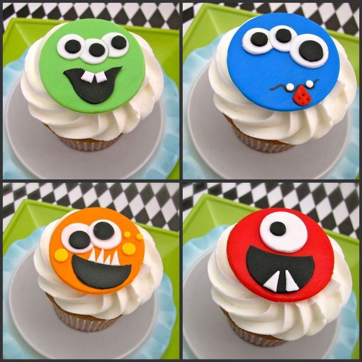 Monster Party Fondant Toppers- Amanda's Parties To Go