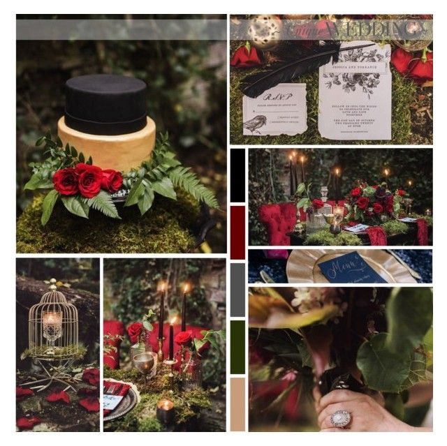 Edgar Allan Poe Wedding Inspiration by anna-nemesis on Polyvore featuring art, wedding, gothic and edgarallanpoe