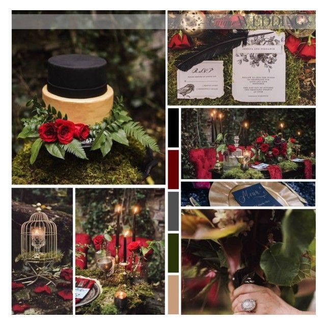Edgar Allan Poe Wedding Inspiration by anna-nemesis on Polyvore featuring art, wedding, gothic and edgarallanpoe