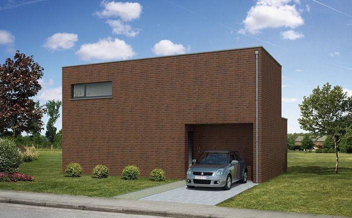 Moderne kubus woning sleutelopdedeur vastgoed bouwen renoveren pinterest van - Huis modern kubus ...