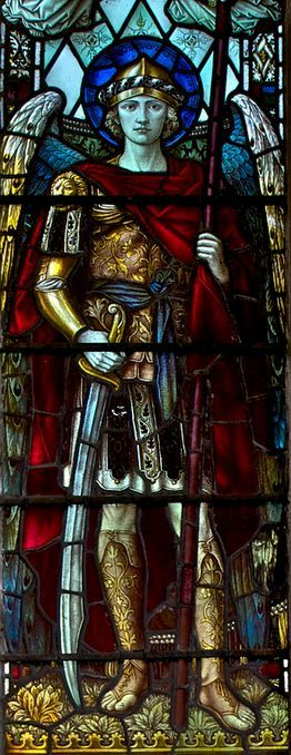 St Michael (detail), by Ian A Wood.