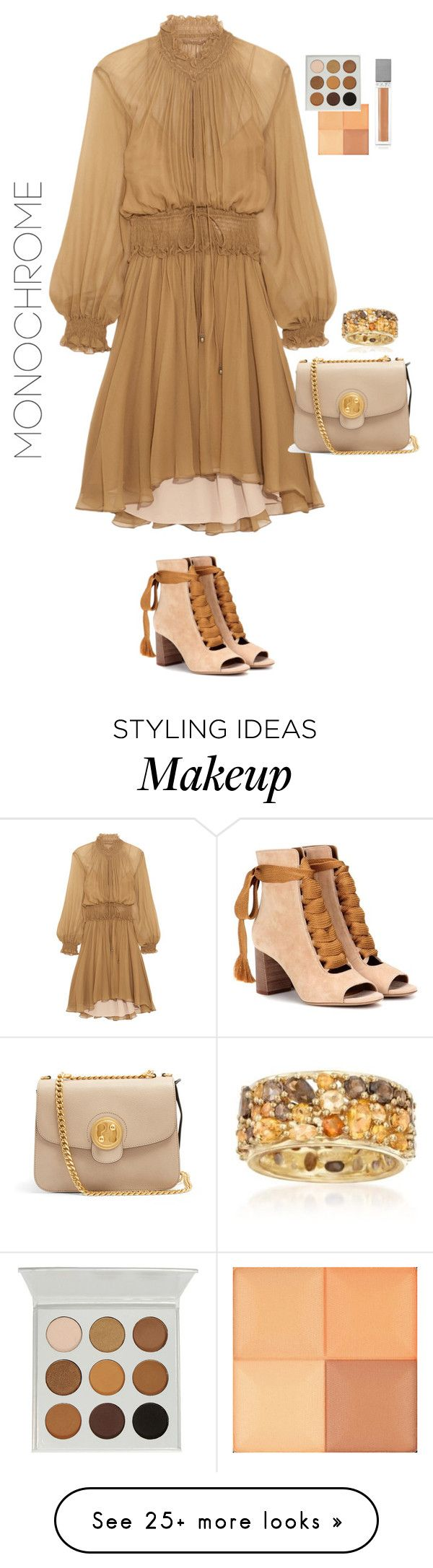 """""""Untitled #510"""" by stephanie-visconti on Polyvore featuring Chloé, Ross-Simons, Givenchy, Sisley and monochrome"""