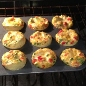 Egg quiche muffins-QUICK Breakfast for the week