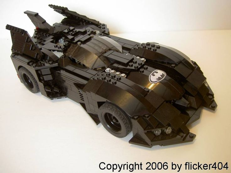 Custom-made Batmobile (version 1): A LEGO® creation by Zach Sweigart : MOCpages.com