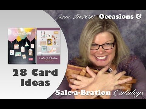 28 card ideas from the 2016 Stampin Up Occasions and Sale-a-bration catalogs by Tami White - stampwithtami.com viewers choice, pick your favorites. New giveaway announced.