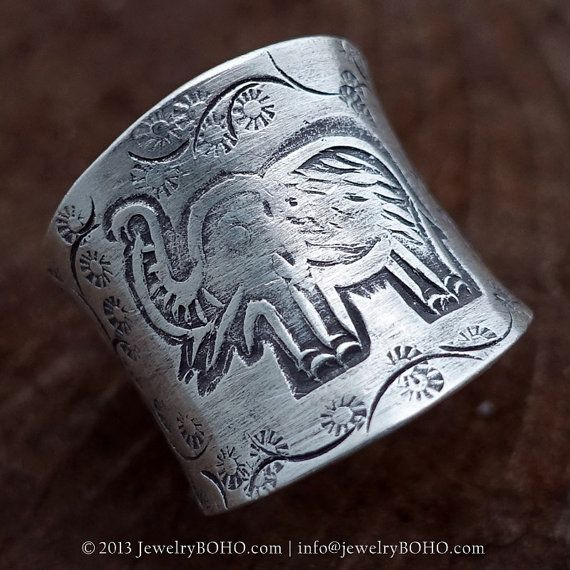 BOHO, Gypsy ring, Hippie ring, Bohemian style, Statement ring R051 JewelryBOHO-Handmade Elephant sterling silver BOHO Tribal ring