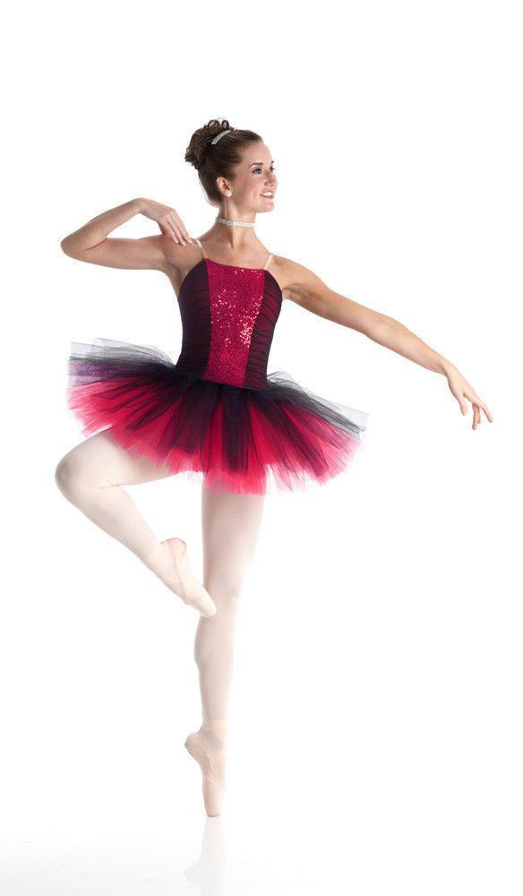 CLASSIQUE RED Sequin Ballet Tutu Christmas Dance Costume Child X-Small Fits 2-3 #Cicci