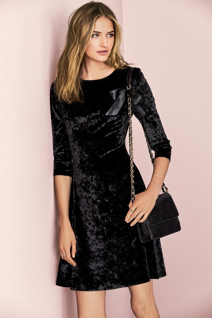 Black dress next - Sanne Vloet For Next 2016 Black Velvet Dressvelvet