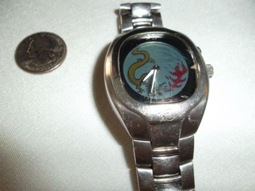 Fossil Big Tic Men's Watch Dragon Analog Digital Dial Stainless Steel Band