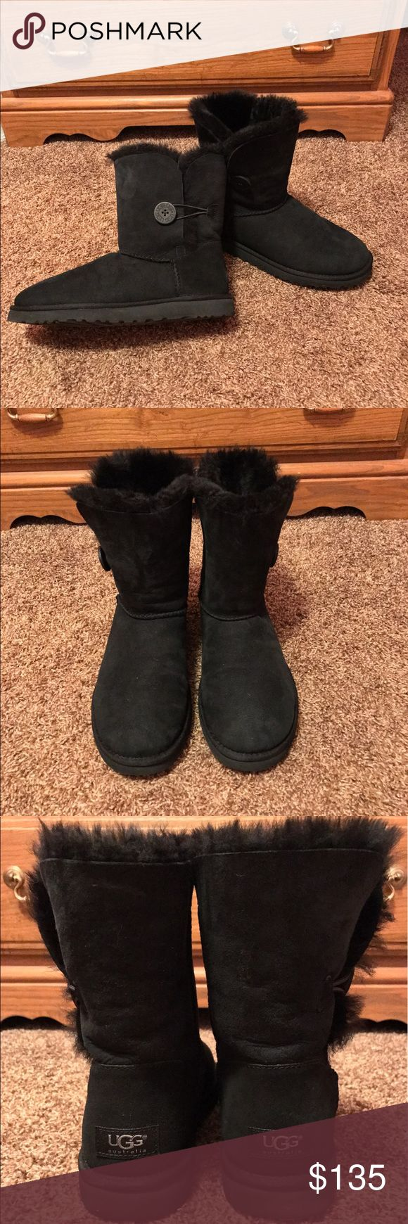 UGG Bailey Button In excellent condition only worn once. I do not have the box anymore, but I bought them from the UGG outlet store. No flaws and sprayed with the waterproof spray. Less on Ⓜ️ercari UGG Shoes Winter & Rain Boots