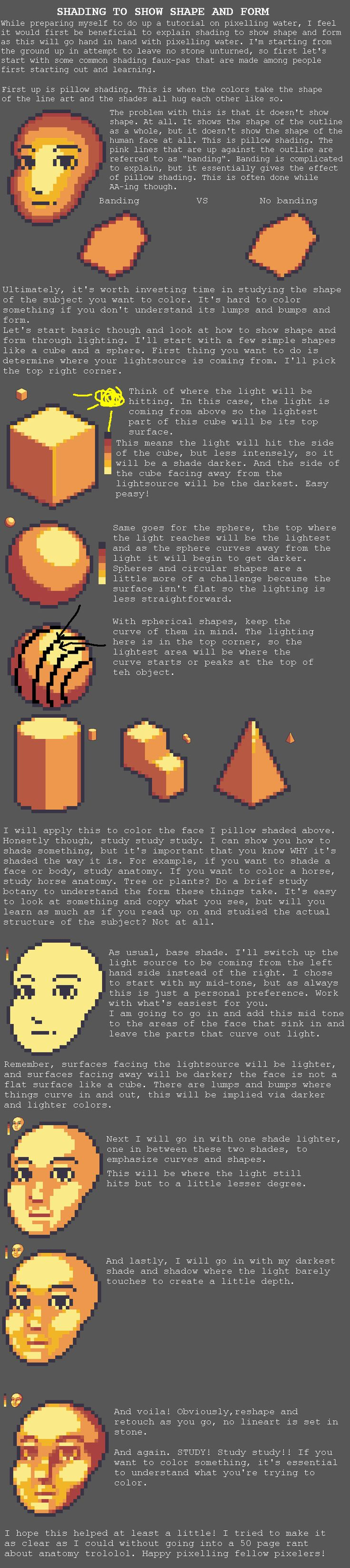 Pixel Art, both old and new and a few WIP's. Tutorials at the end. - Album on Imgur
