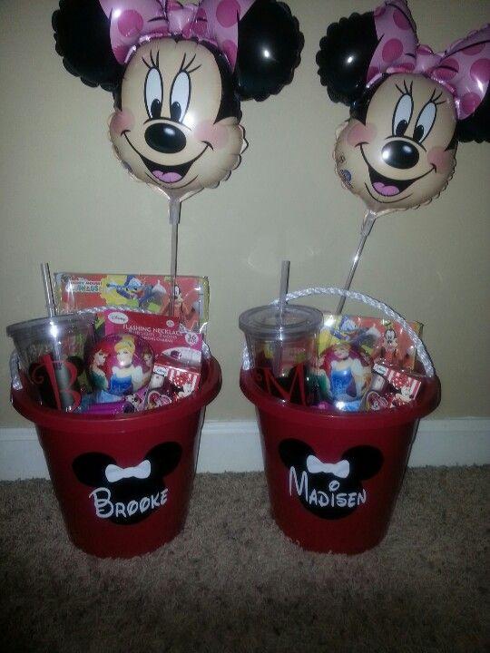 Disney Cruise Suprise bucket for the girls 1st Disney Cruise