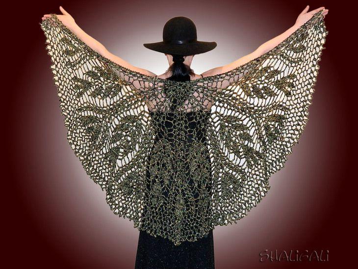"""Вязание: шаль """"черный блеск"""" (шаль,вязание,рукоделие) ФОТО #1"""