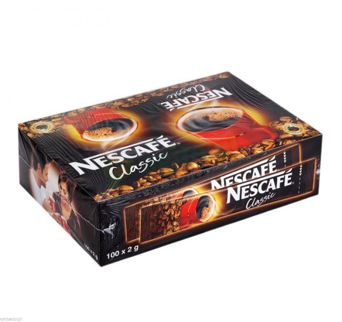 Kawa NESCAFE clasic 100szt.x2g | spozywczo.pl Saszetki kawy Nescafe Clasic do kupienia na stronie: http://www.spozywczo.pl/hurtownia-kawy-herbaty