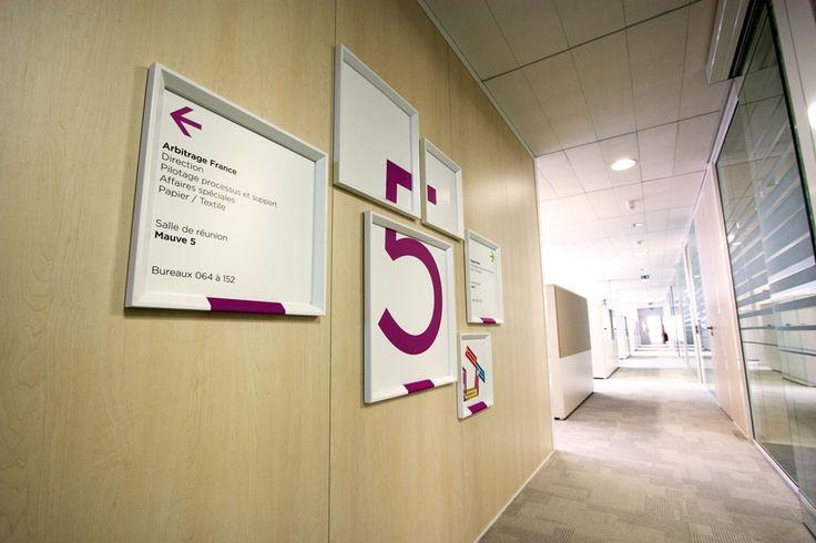 Creative interior #Signage - #Megamark   #Signalétique intérieure http://www.megamark.fr