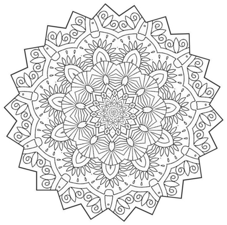 654 best Mandalas images on Pinterest Drawings Adult coloring