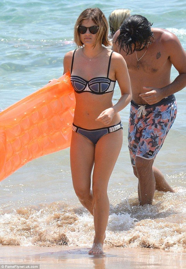 Lucy Hale enjoys another day on the beach with 'boyfriend' in Hawaii #dailymail