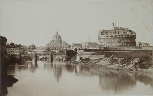 Rome, Castel S. Angelo and Tiber 1853 (ca)