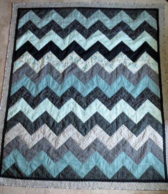 Quilting Designs For Chevron Quilts : Over+Hill+and+Dale+Quilt+pattern+chevron+by+Clarkecottagequilts,+USD 10.00 Sewing projects and ...