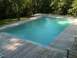 Plancher bois autour piscine piscine pinterest lyon for Plancher piscine bois