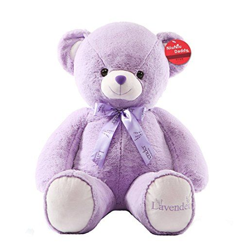 Niuniu Daddy 395 Giant Purple Teddy Bear  Super Cute  Huggable Stuffed Plush Animal Toy SOFT PILLOW * You can find out more details at the link of the image.