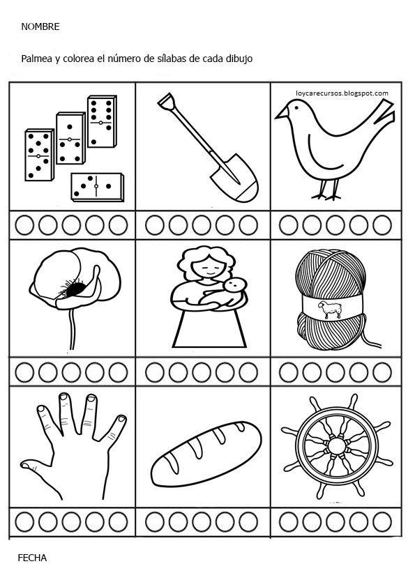 Recursos De Educación Infantil Silabas Contar Silabas Ejercicios De Escritura