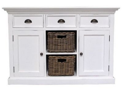 Buffet With Drawers And 2 Rattan Baskets -  £720.00 - Hicks and Hicks