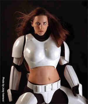 Star Wars modified storm trooper suit