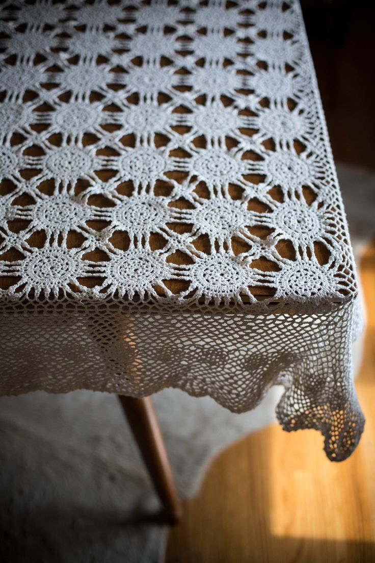 antique crochet tablecloth at Sweet Gum Co.