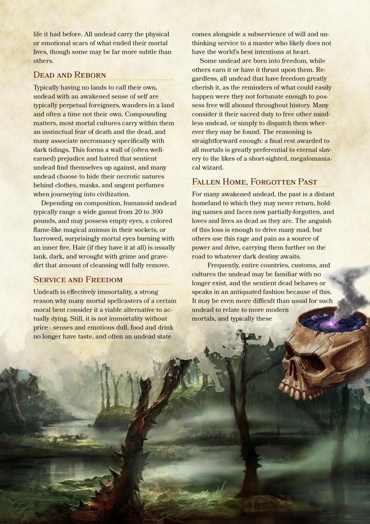 D&Don't Know What We're Doing — Dnd-5e-homebrew: Awakened Undead Race By...