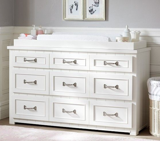 White Changing Table Topper