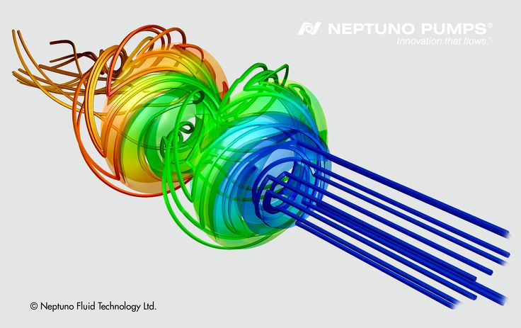 CFD Simulation for one of our Neptuno Pumps® - Vertical Turbine Pump designs.