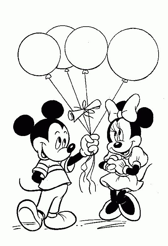 Mickey And Minnie Mouse   Mickey and Minnie Mouse Coloring Pages - Lets coloring!