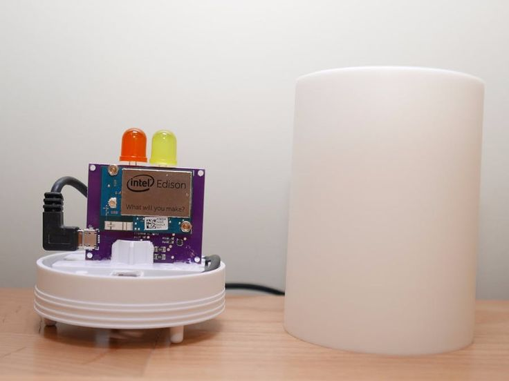 Soothing LED candle based on the Intel Edison running Android Things