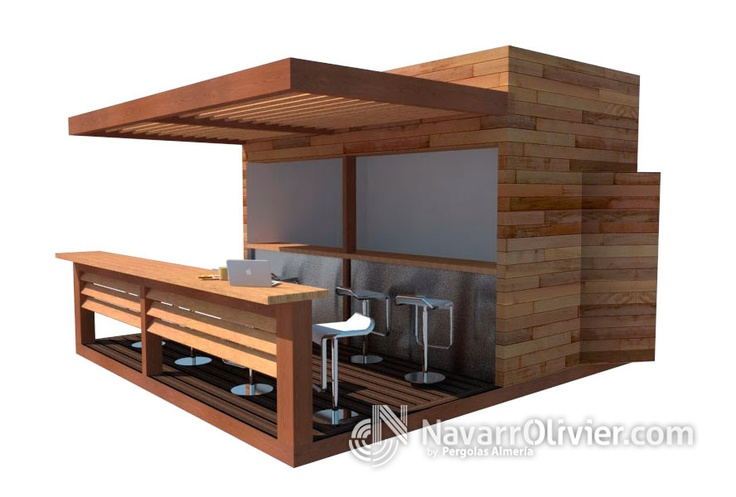 Proyecto de chiringuito con terraza en madera de pino for Madera de pino tratada