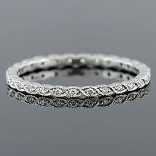 diamond wedding band with milgrain - Google Search