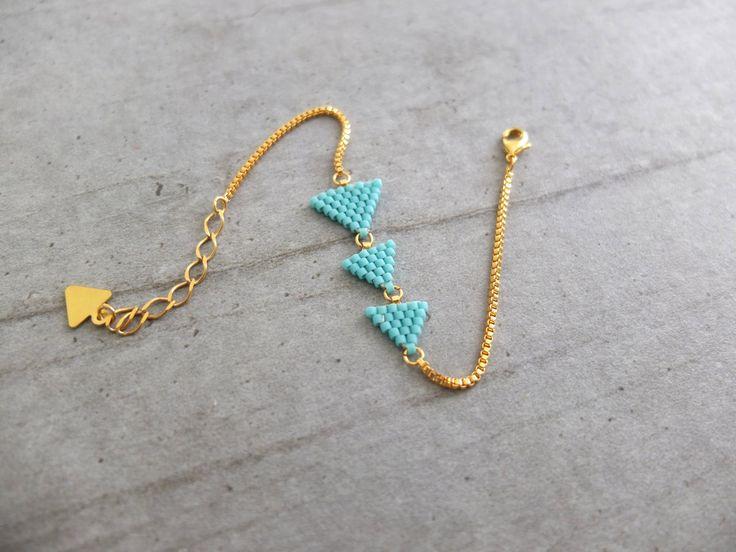 Bracelet ★ fanions ★doré à l'or fin 24K : Bracelet par my-french-touch
