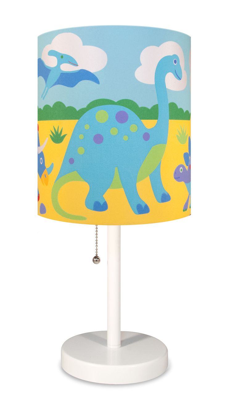 Sweet jojo designs construction zone lamp shade free shipping on - The Olive Kids Dinosaur Land Table Lamp Features A Super Fun Dino Themed Shade Featuring