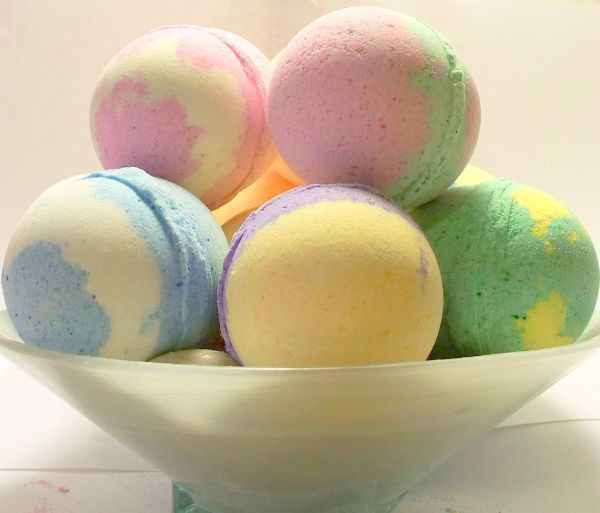 bath bombs! they can be made with different ingredients to change the color, shape and perfume, all of them make bath time more pleasant! enjoy making some!