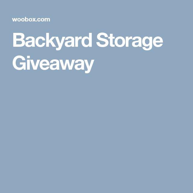 Backyard Storage Giveaway